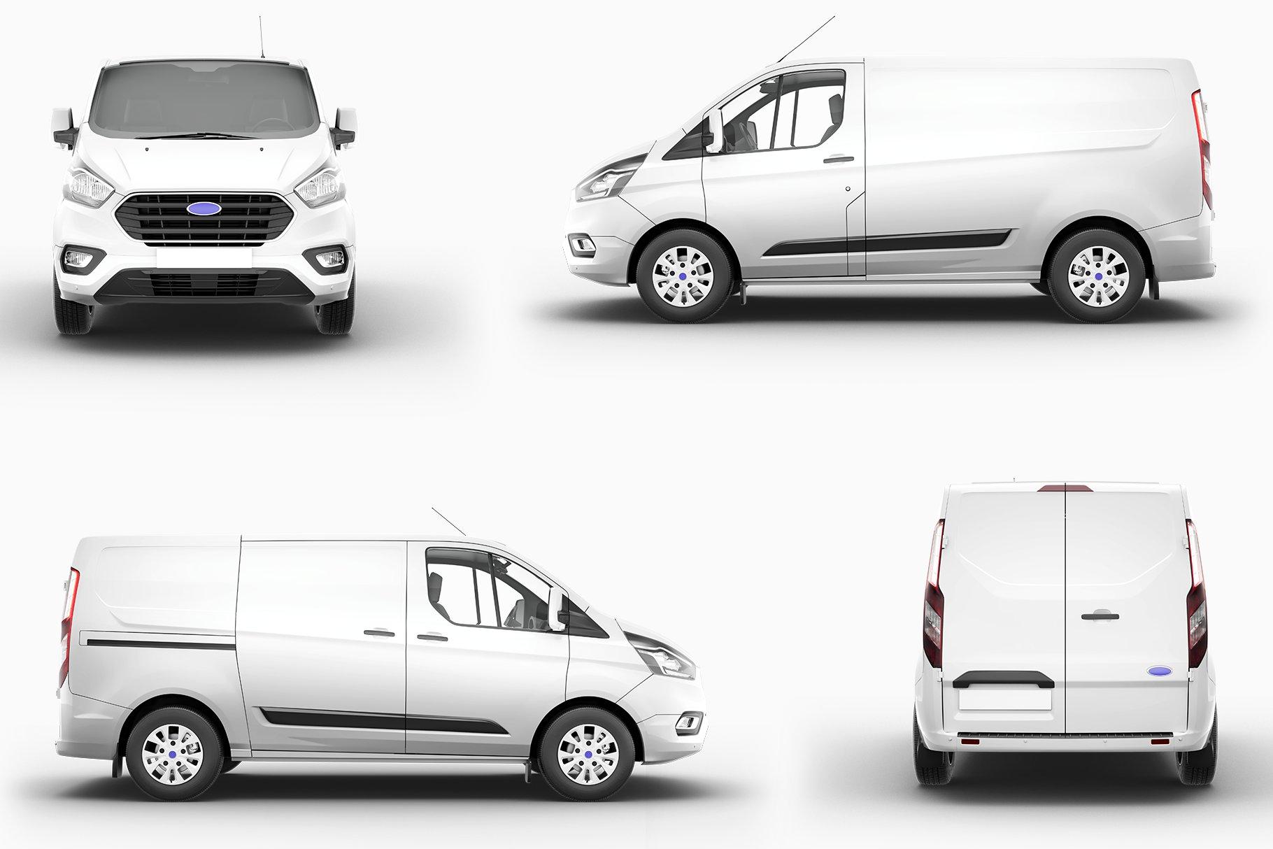 8个封闭面包货车车身广告设计展示样机模板 Van Mockup 14插图11
