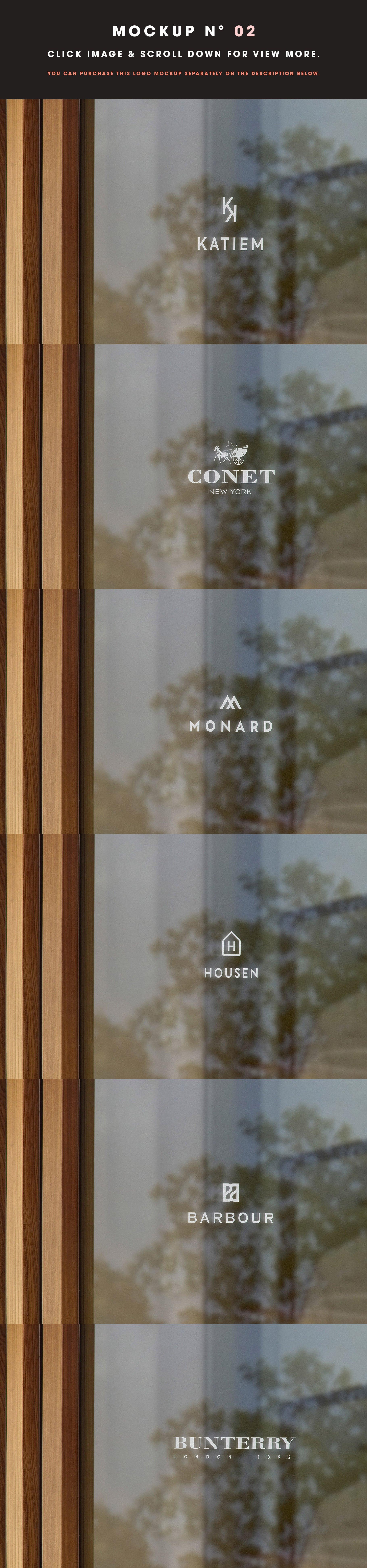 [单独购买] 25款街头门店玻璃窗户徽标标牌Logo设计展示样机模板合集 25 Window Signs Logo Mockups – V2插图4