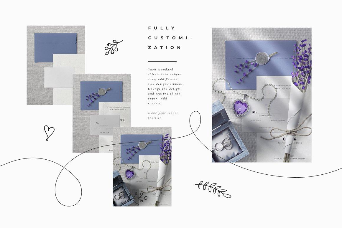 [单独购买] 17款超大婚礼品牌设计场景展示样机创建者模板PS素材包 Wedding Mockup Scene Creator插图2
