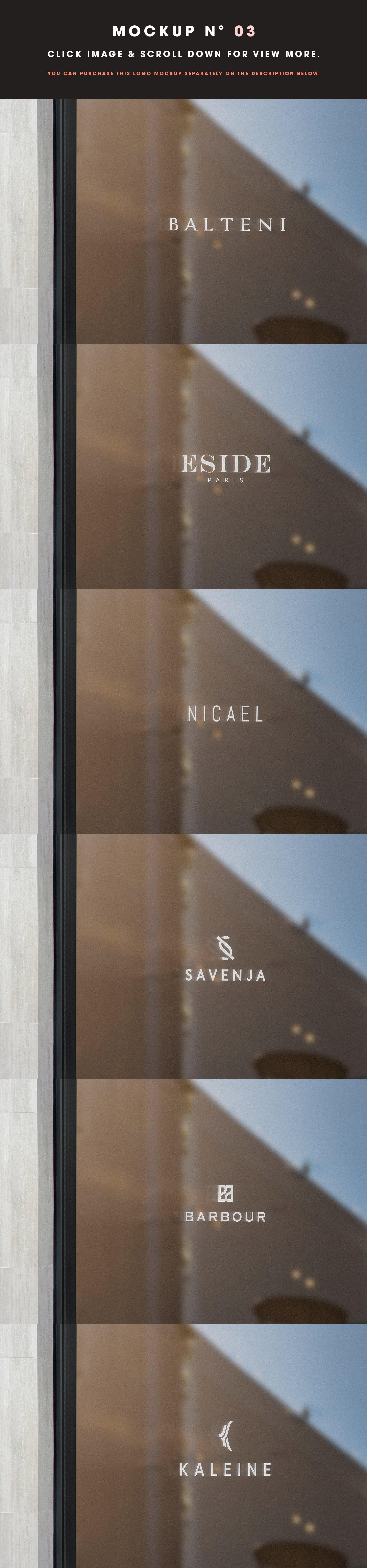 [单独购买] 25款街头门店玻璃窗户徽标标牌Logo设计展示样机模板合集 25 Window Signs Logo Mockups – V2插图5
