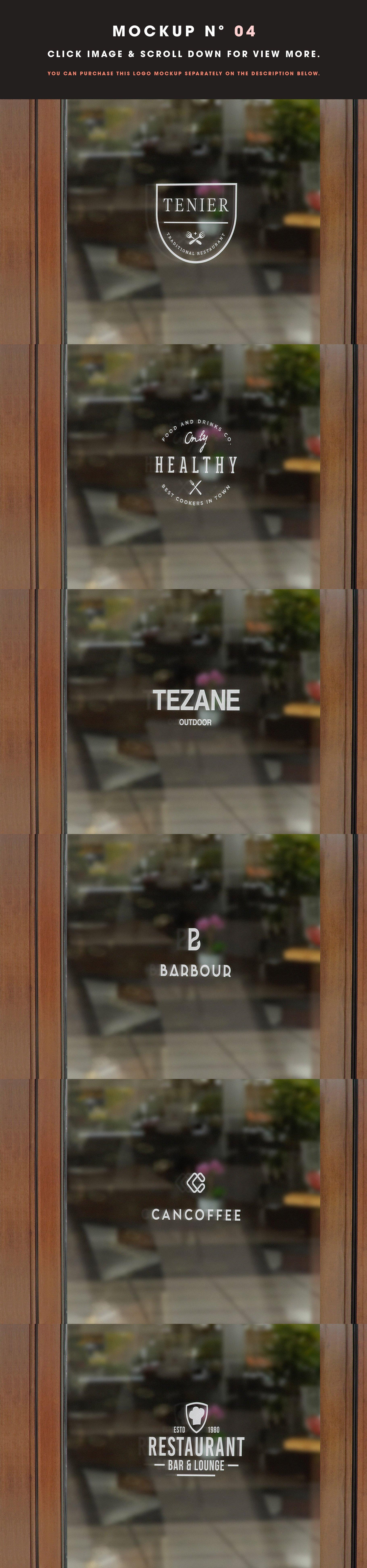 [单独购买] 25款街头门店玻璃窗户徽标标牌Logo设计展示样机模板合集 25 Window Signs Logo Mockups – V2插图6