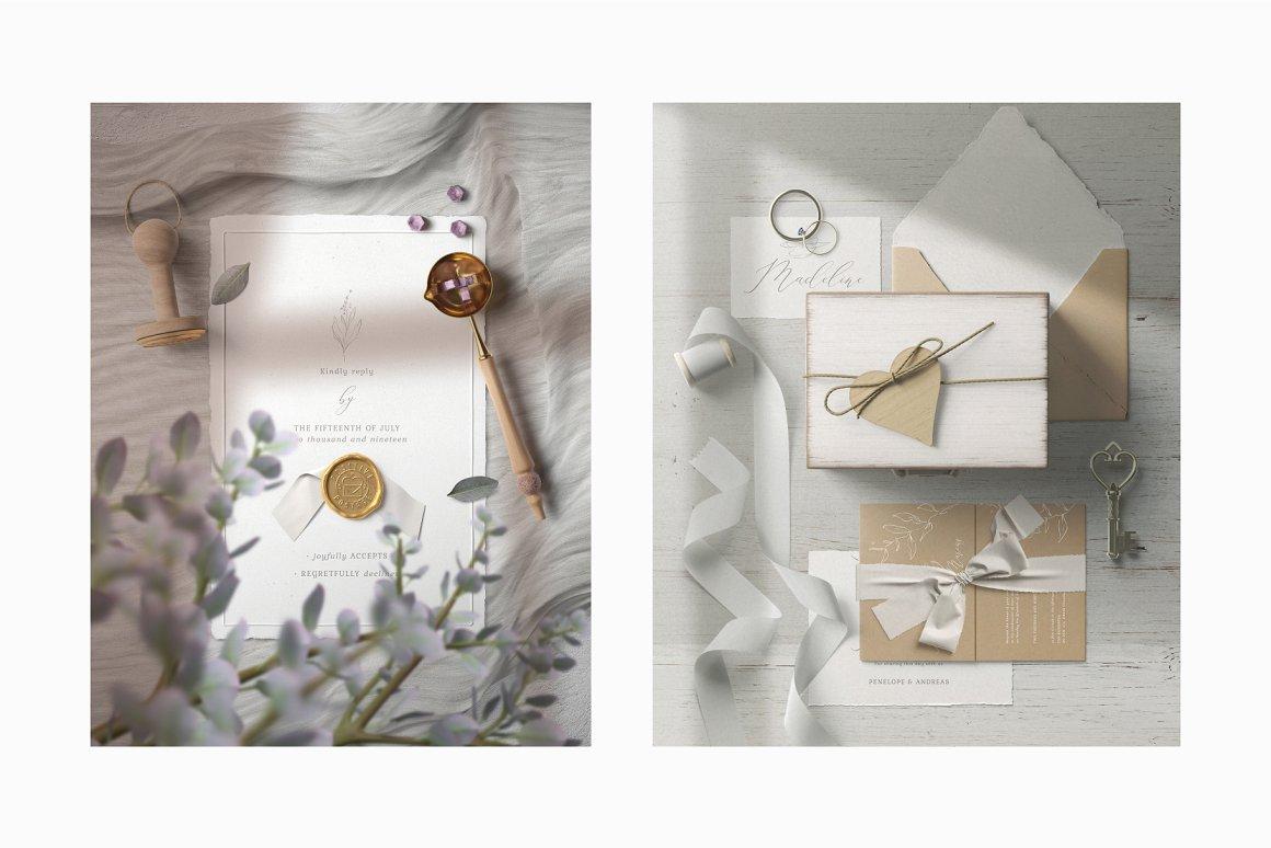 [单独购买] 17款超大婚礼品牌设计场景展示样机创建者模板PS素材包 Wedding Mockup Scene Creator插图5