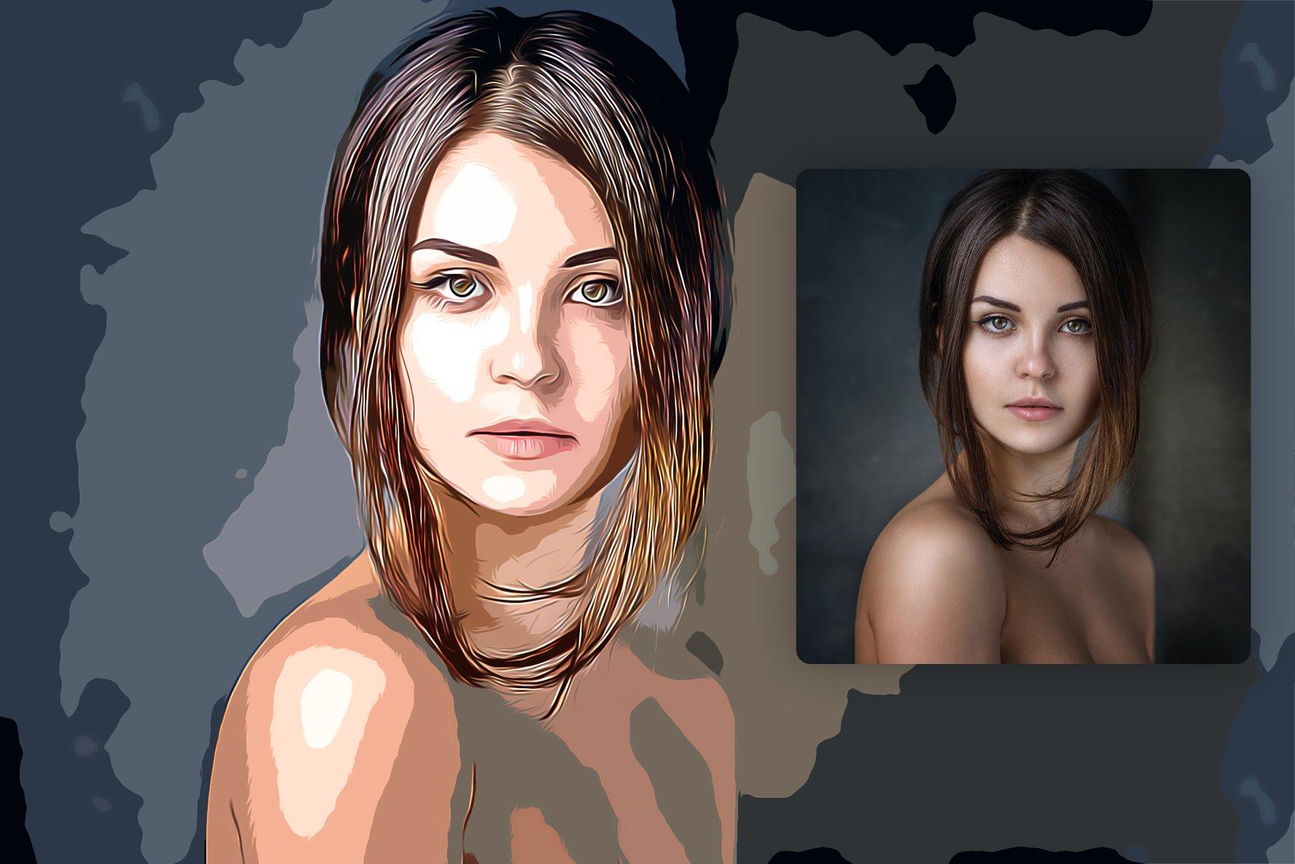 逼真油画艺术绘画效果照片处理特效PS动作模板 Cartoon Oil Painting Photoshop FX插图3