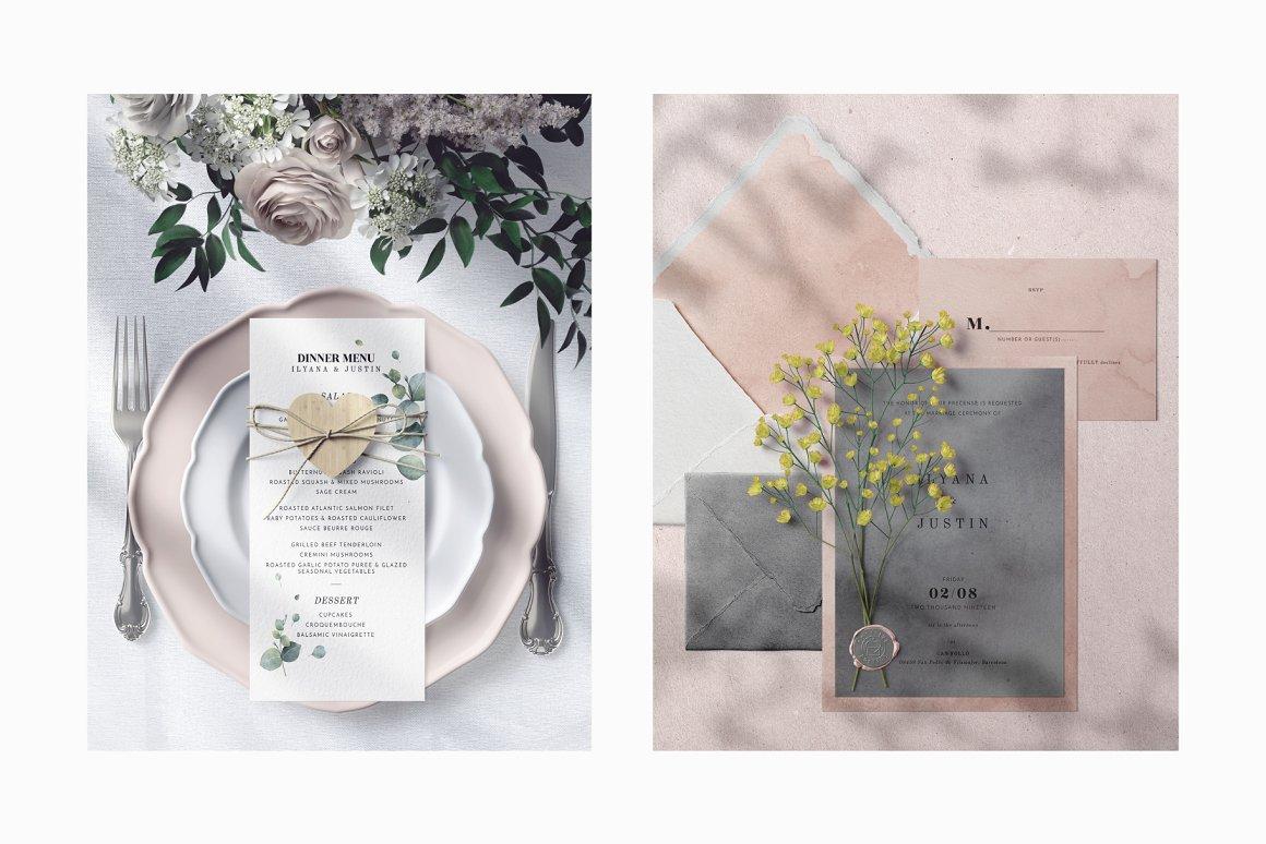 [单独购买] 17款超大婚礼品牌设计场景展示样机创建者模板PS素材包 Wedding Mockup Scene Creator插图7