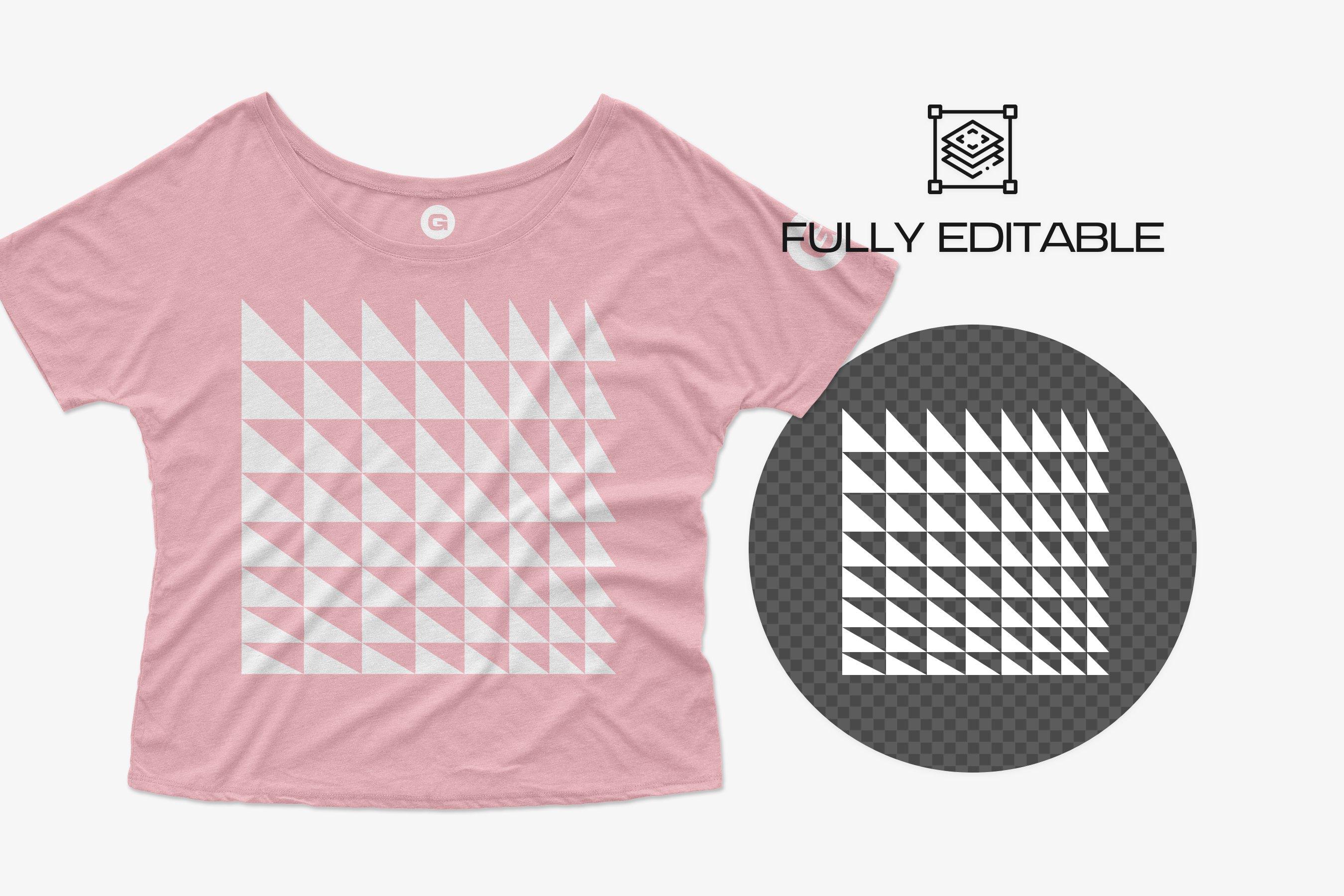 11个简约女士半袖T恤印花设计PS样机模板 Bella Canvas Flowy Tee 8816 Mockups插图4