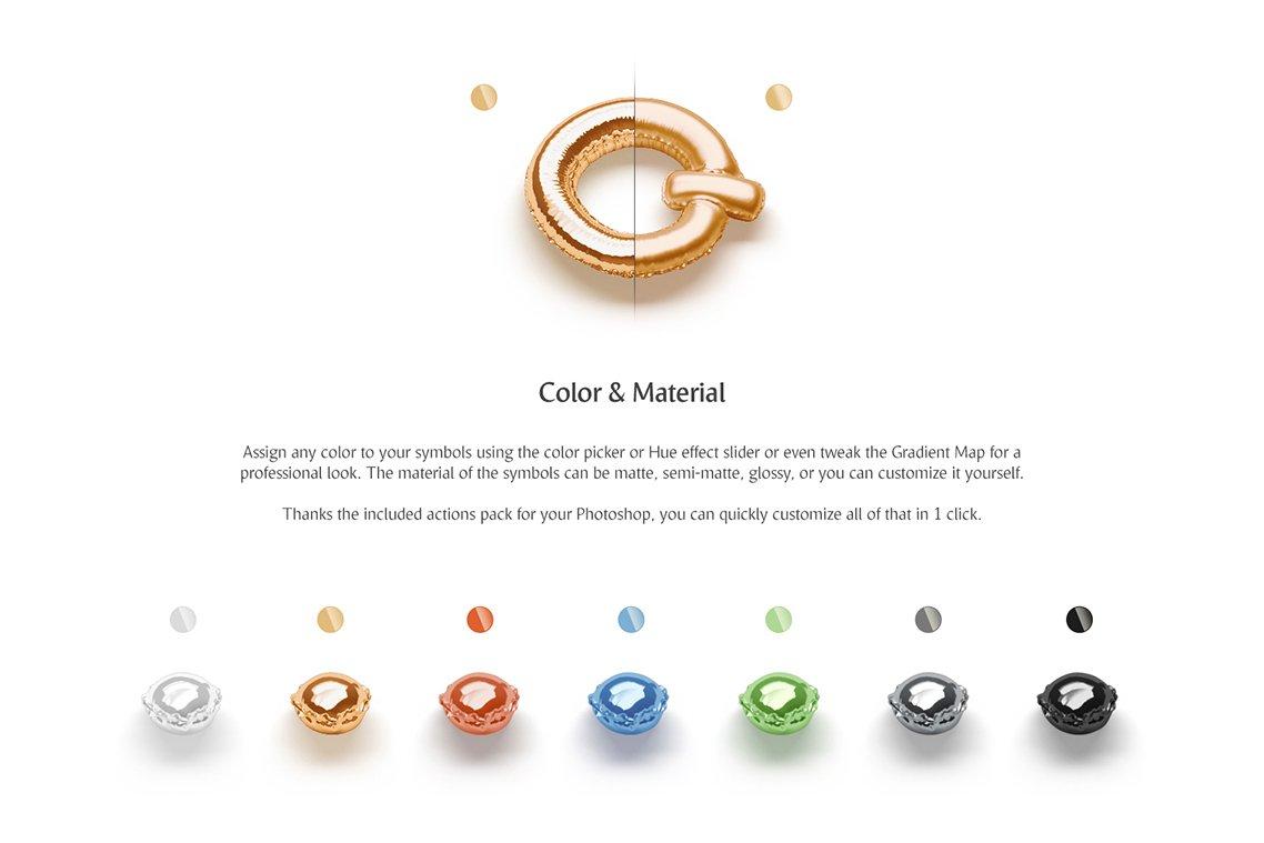 [单独购买] 潮流3D立体金属箔纸气球字体标题Logo设计动画演示PS样机设计素材 Animated Balloon Font Side Pack插图7