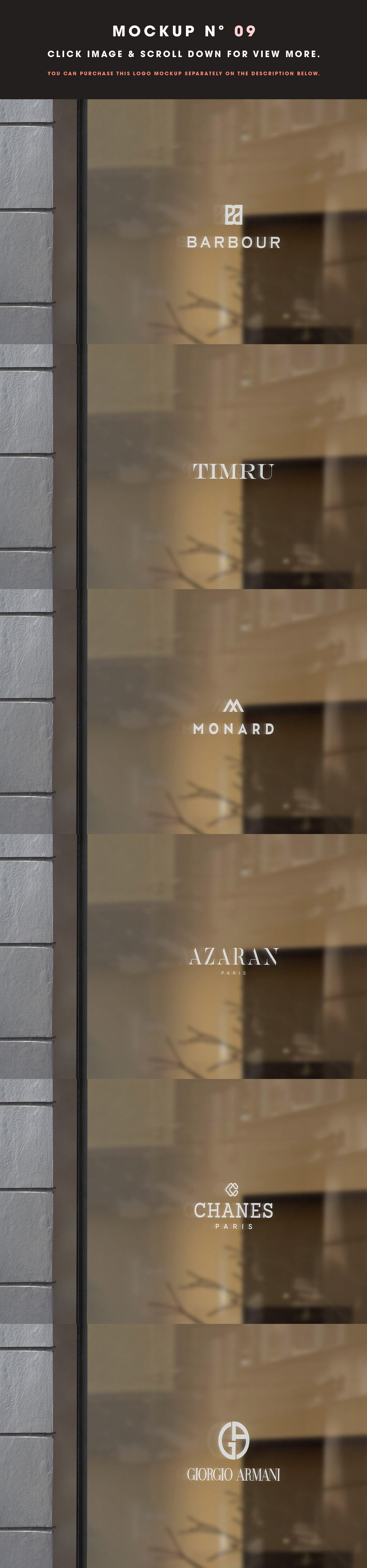 [单独购买] 25款街头门店玻璃窗户徽标标牌Logo设计展示样机模板合集 25 Window Signs Logo Mockups – V2插图11