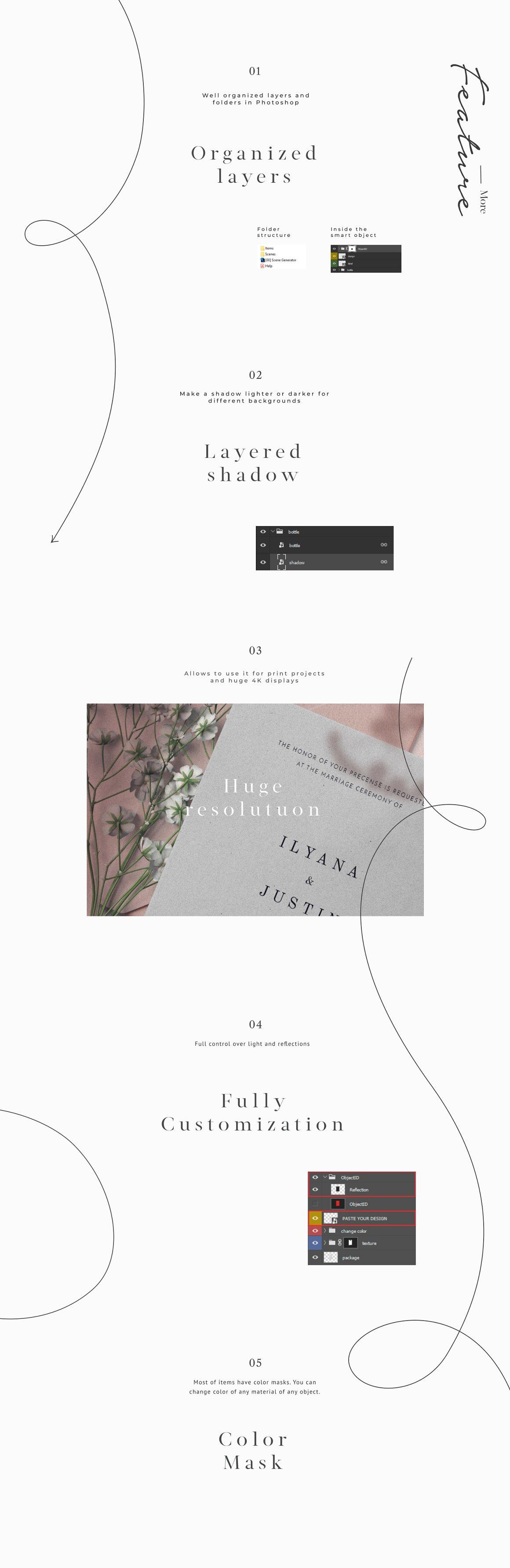[单独购买] 17款超大婚礼品牌设计场景展示样机创建者模板PS素材包 Wedding Mockup Scene Creator插图12
