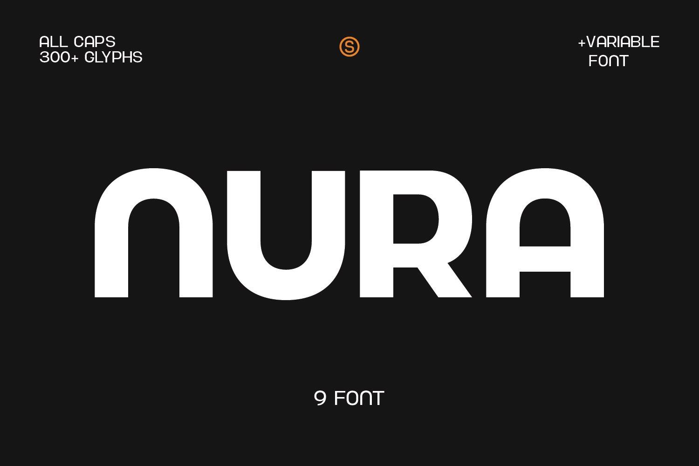 现代简约杂志海报Logo标题无衬线英文字体设计素材 Nura – Variable Font插图