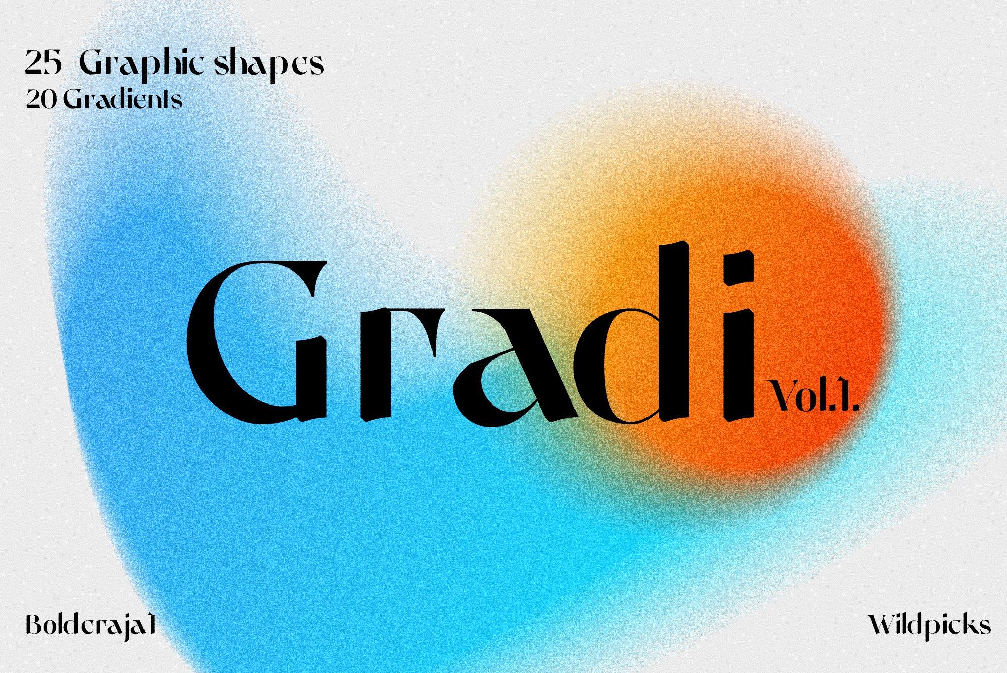 [单独购买] 潮流复古炫彩颗粒噪点模糊渐变背景纹理图形设计素材 Gradient Color Grainy Textures插图