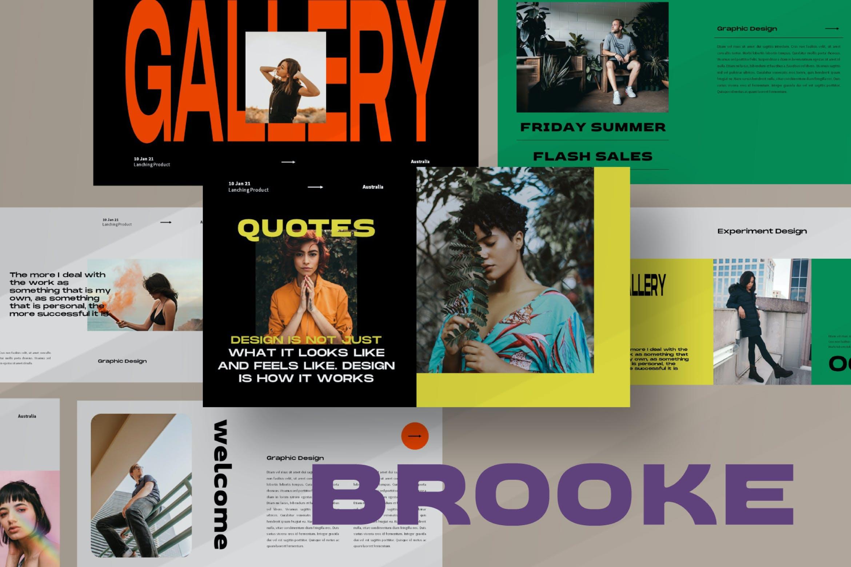 时尚潮流品牌策划案提案简报设计演示文稿模板 Brooke Powerpoint Template插图
