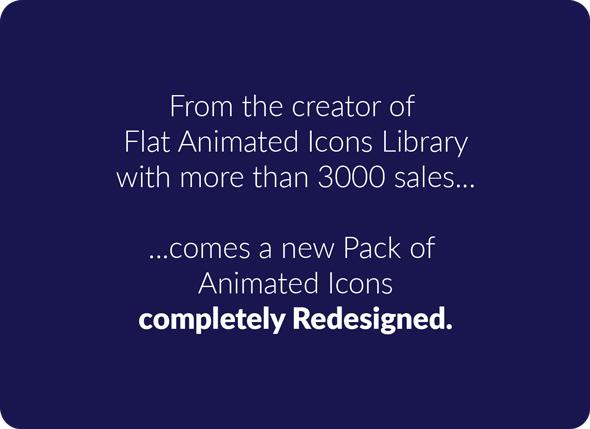 1000组线条ICON图标扁平化MG动画AE视频模板素材 PremiumBuilder Animated Icons插图