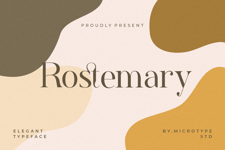 现代优雅标题品牌徽标Logo设计衬线英文字体下载 Rostemary Elegant Serif插图