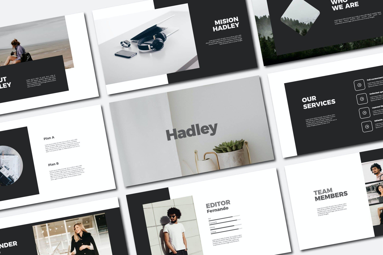 现代商务策划提报演示文稿设计素材模版 Hadley Bundle Presentation插图
