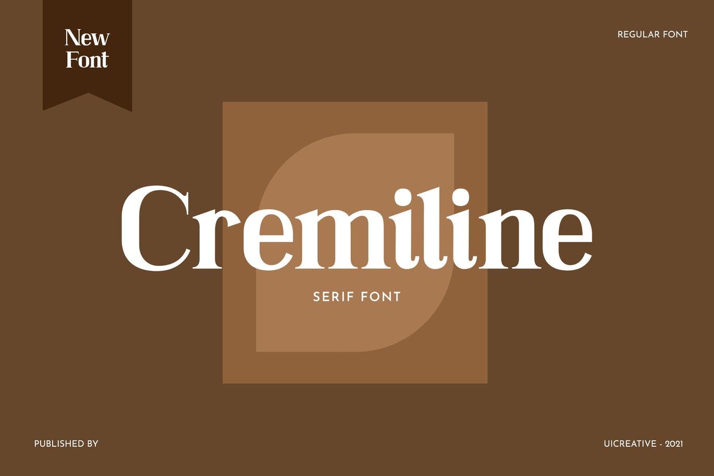 现代复古杂志海报标题Logo设计衬线英文字体下载 Cremiline Serif Font插图