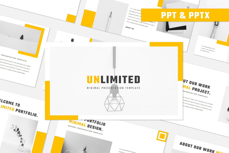 现代简约商务策划提报演示文稿幻灯片设计模版 UNLIMITED Powerpoint Template插图