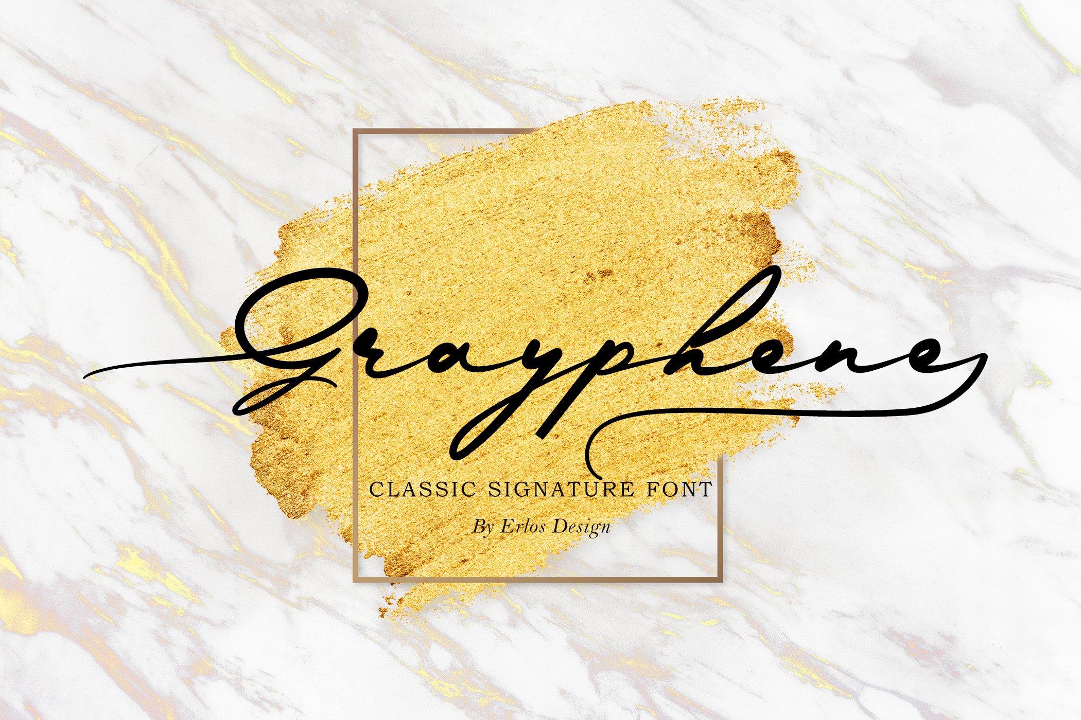现代时尚品牌Logo标题设计手写英文字体素材 Grayphene Font插图