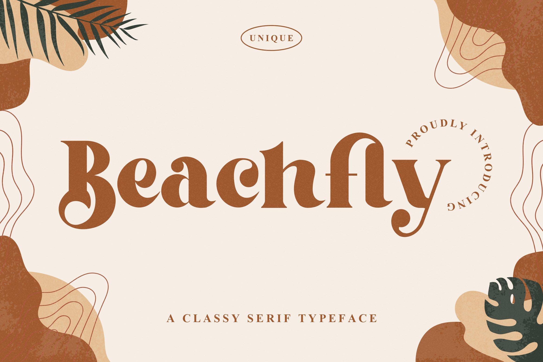 复古优雅标题徽标Logo设计衬线英文字体素材 Beachfly Font插图