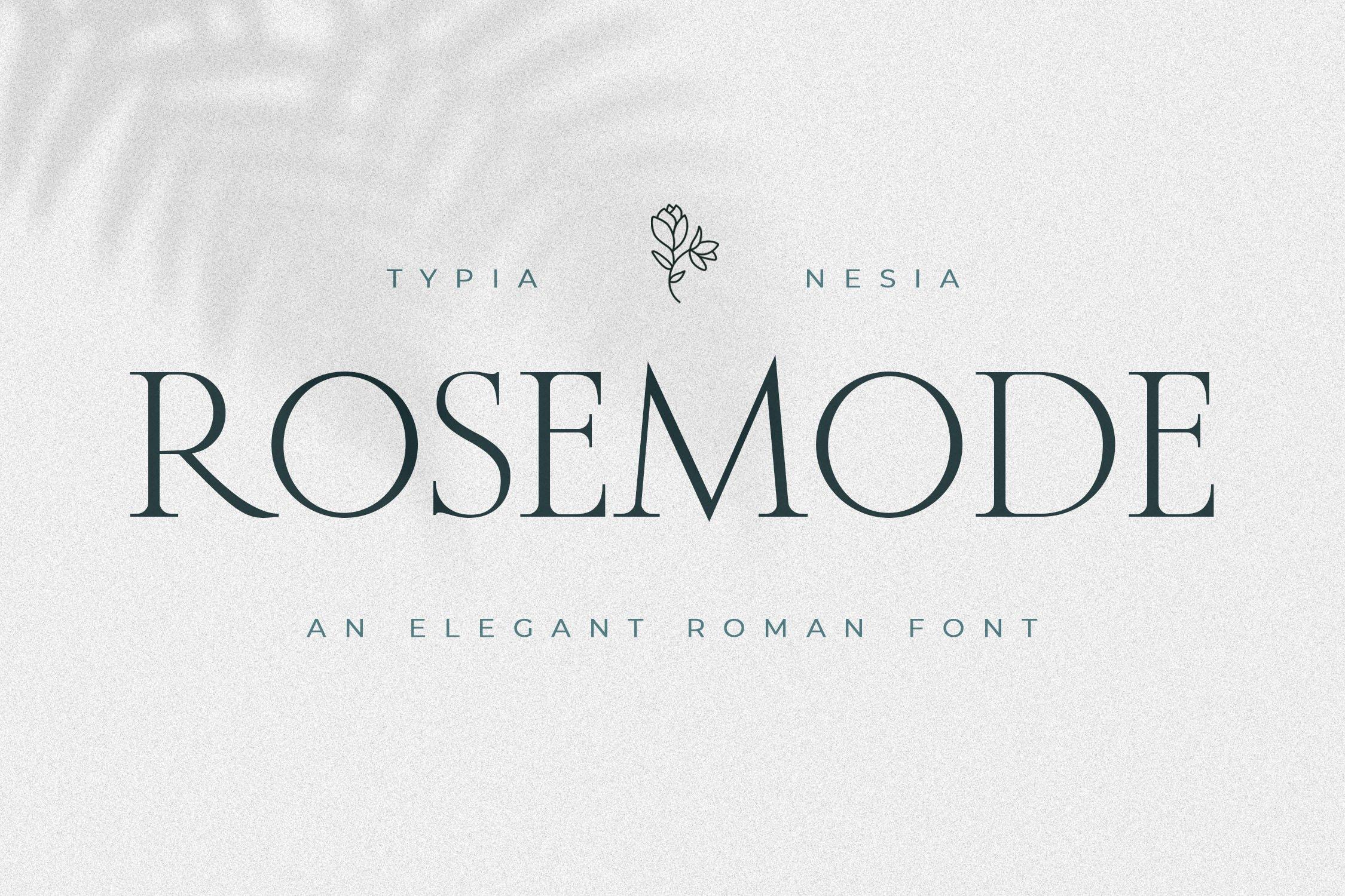 优雅经典杂志海报标题Logo设计衬线英文字体素材 Rosemode Font插图