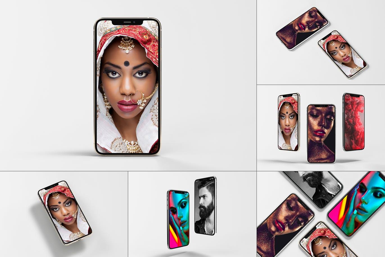8款逼真APP界面设计iPhone 11 Pro屏幕演示样机模板 iPhone 11pro Mock-up插图