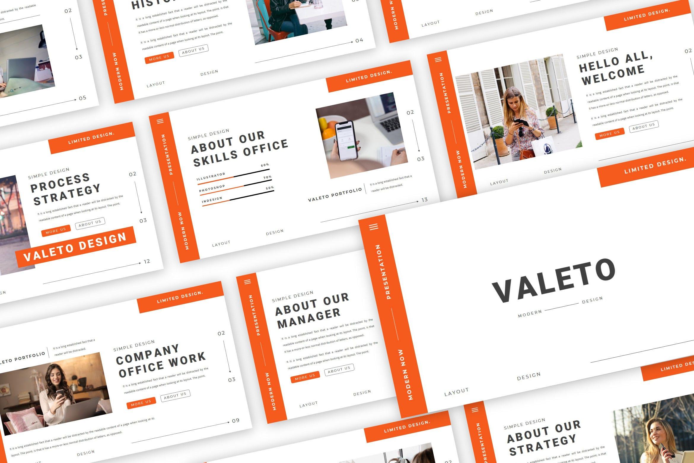 极简主义企业营销策划演示文稿设计模板 Valeto Powerpoint Template插图