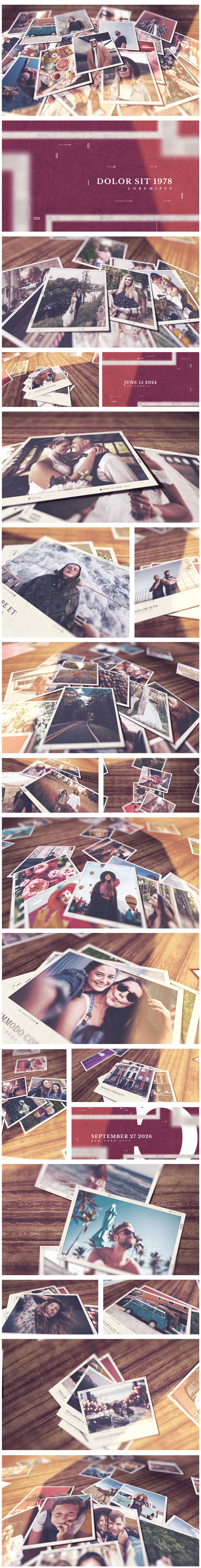 时尚浪漫婚礼摄影作品集动态演示AE视频模板 Romantic Slideshow插图