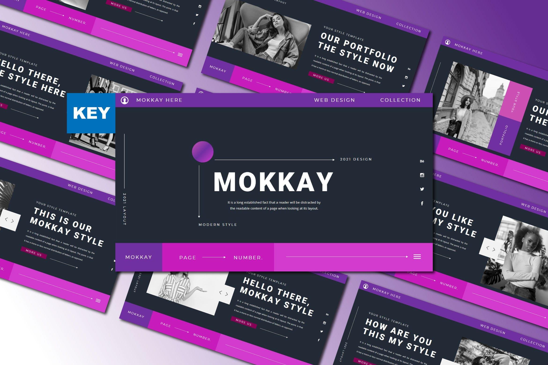 潮流服装摄影作品集图文排版 Keynote设计模板 MOKKAY Keynote Template插图