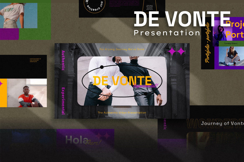 潮流炫酷摄影作品集图文排版设计Keynote 模版 De Vonte Keynote Template插图