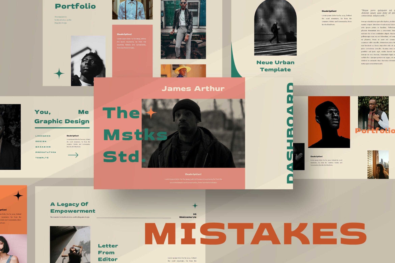 优雅品牌策划提案简报演示文稿设计PPT模版 Mistakes Powerpoint Template插图