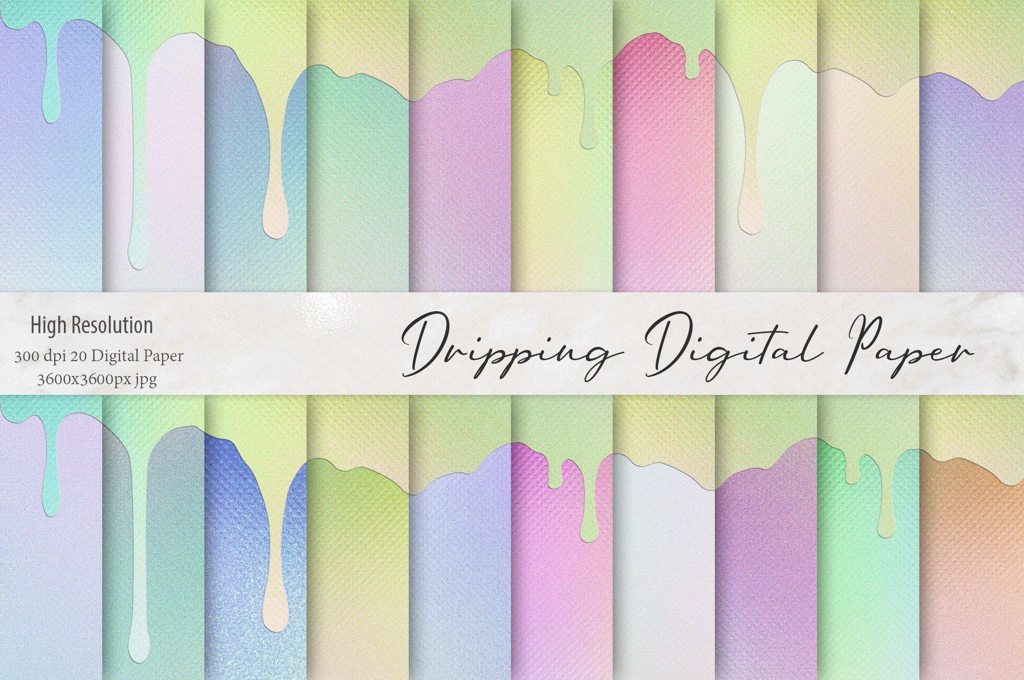 20款高清水滴虹彩海报设计背景纹理图片素材 Dripping Iridescent Textures插图