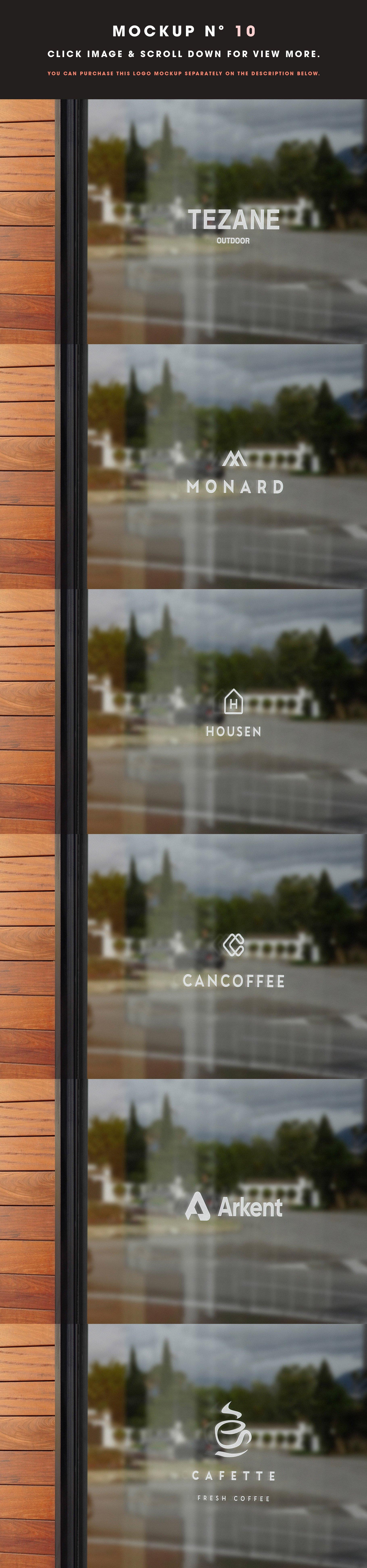 [单独购买] 25款街头门店玻璃窗户徽标标牌Logo设计展示样机模板合集 25 Window Signs Logo Mockups – V2插图12