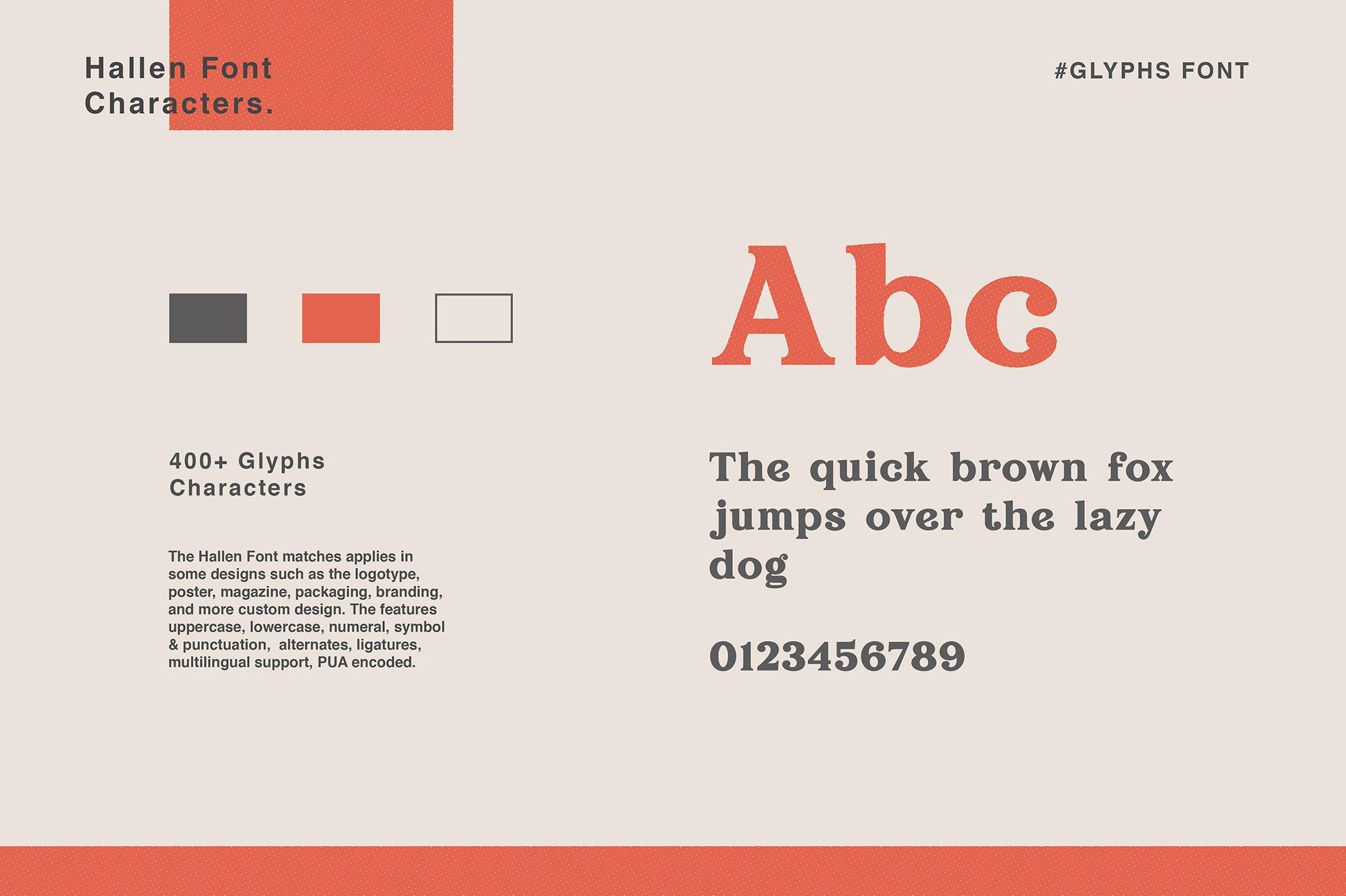 现代经典杂志海报标题Logo设计衬线英文字体下载 Hallen Font插图9