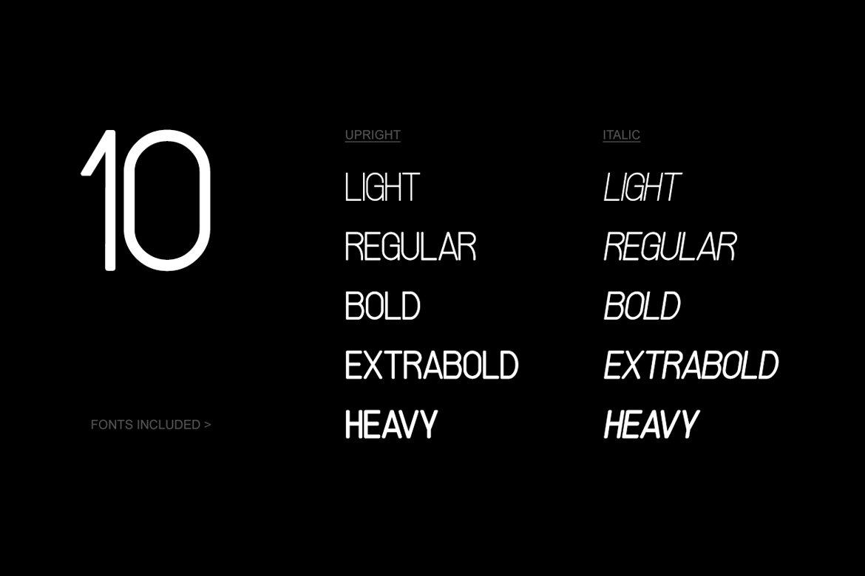 现代时尚杂志海报标题徽标Logo设计无衬线英文字体素材 SPACIA – Unique & Modern Display Typeface插图10