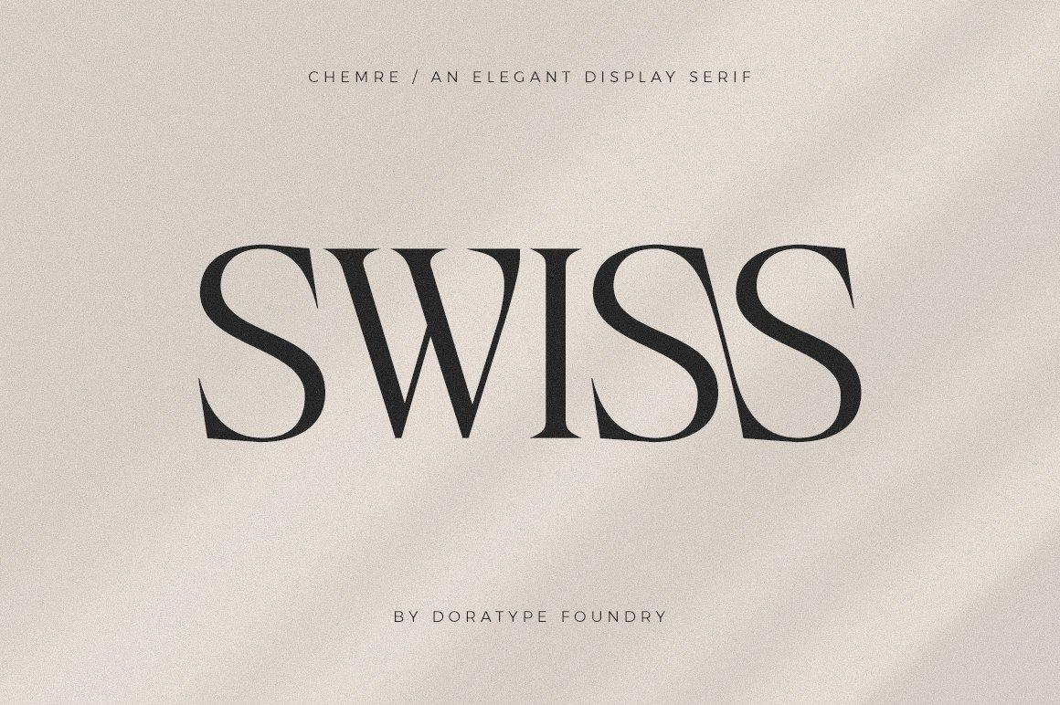 现代优雅品牌徽标Logo海报标题设计衬线英文字体素材 Chemre Font插图9