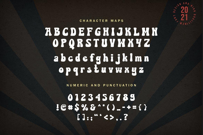 复古圆润海报标题Logo设计粗体英文字体素材 Corduroy – Classic Groovy Font插图9