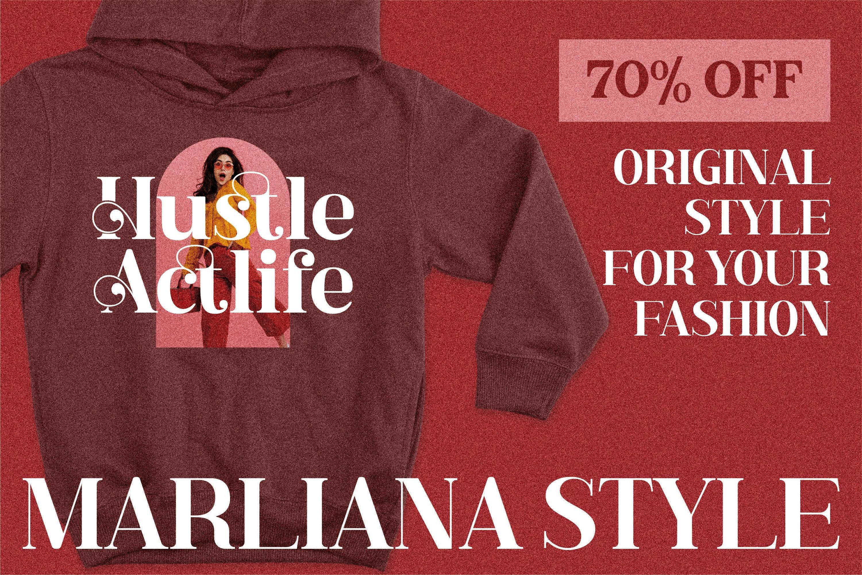 现代奢华品牌徽标Logo海报标题衬线英文字体下载 Hustle Actlife Font插图9