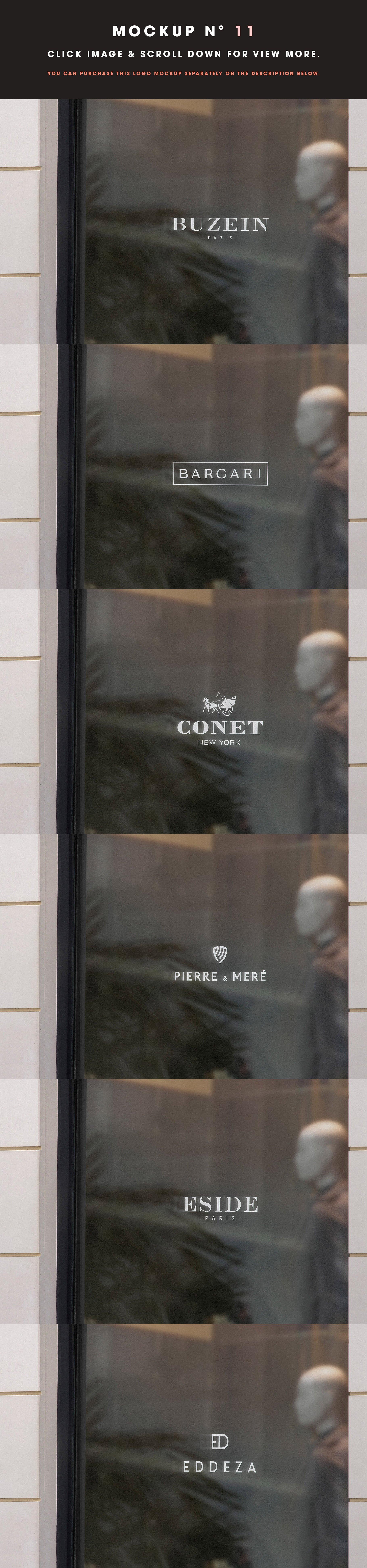[单独购买] 25款街头门店玻璃窗户徽标标牌Logo设计展示样机模板合集 25 Window Signs Logo Mockups – V2插图13