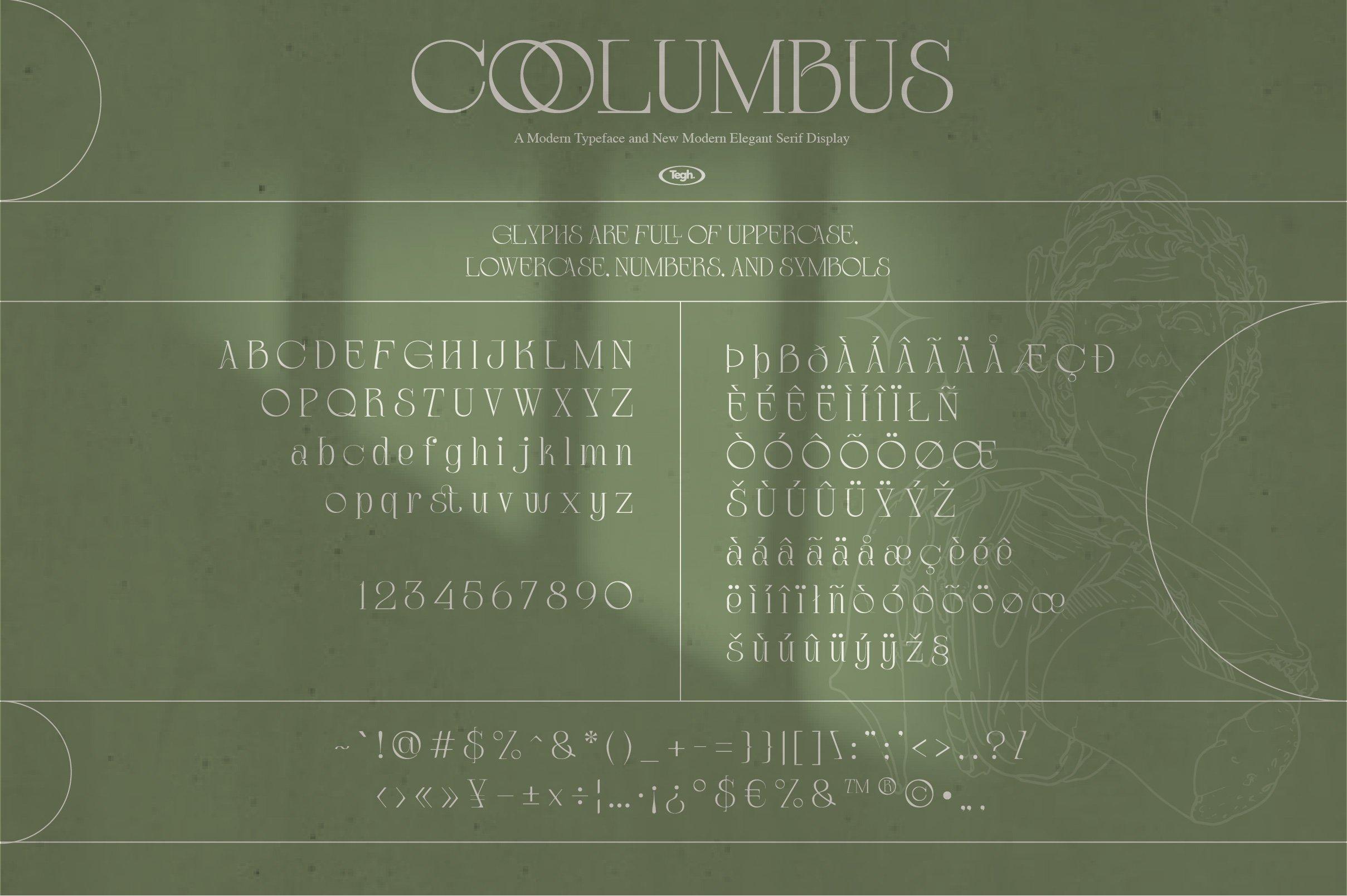 优雅复古杂志海报标题徽标Logo设计衬线英文字体素材 Coolumbus Modern Serif Font插图10