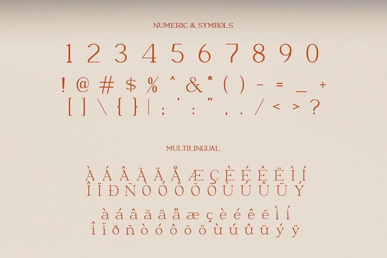 优雅轻奢现代时尚Logo杂志海报标题衬线英文字体素材 Moeda – Luxury Serif Font插图9