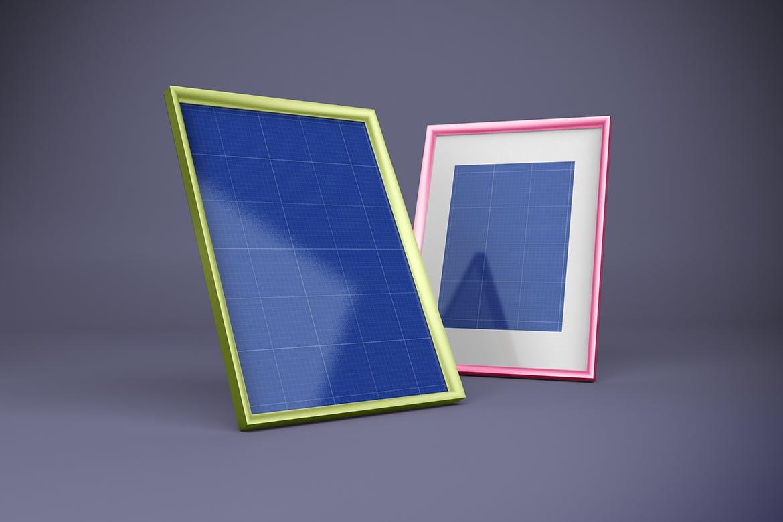 多角度艺术品相片展示相框样机模板 Frame Mockup插图10