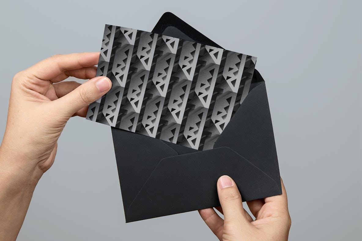现代暗黑噪点颗粒渐变几何图形无缝隙背景图设计素材 Cubic Dark Patterns插图8