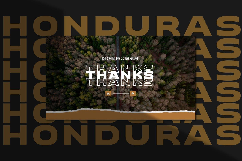 潮流撕纸效果品牌营销设计提案简报演示文稿模板素材 HONDURAS Bundle Presentation Template插图10
