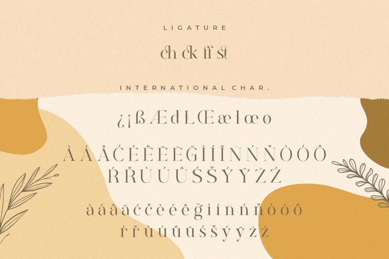 现代优雅标题品牌徽标Logo设计衬线英文字体下载 Rostemary Elegant Serif插图10