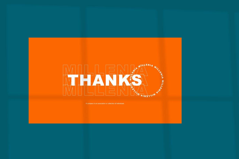 时尚炫彩品牌策划提案简报作品集设计PPT+Keynote模板 Millenia – Fashion PowerPoint Template插图4