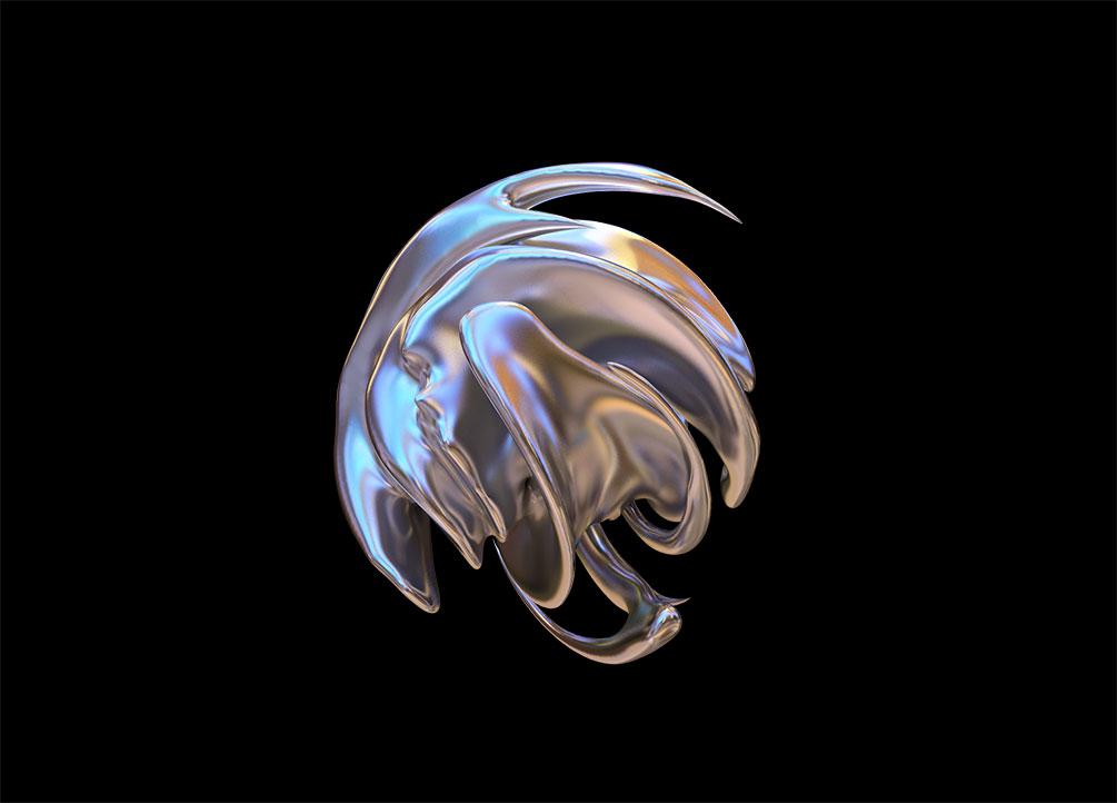 [单独购买] 50款潮流抽象金属镀铬有机形状PNG免扣图片设计素材 Edgargfx – Organic Chrome 3D插图9
