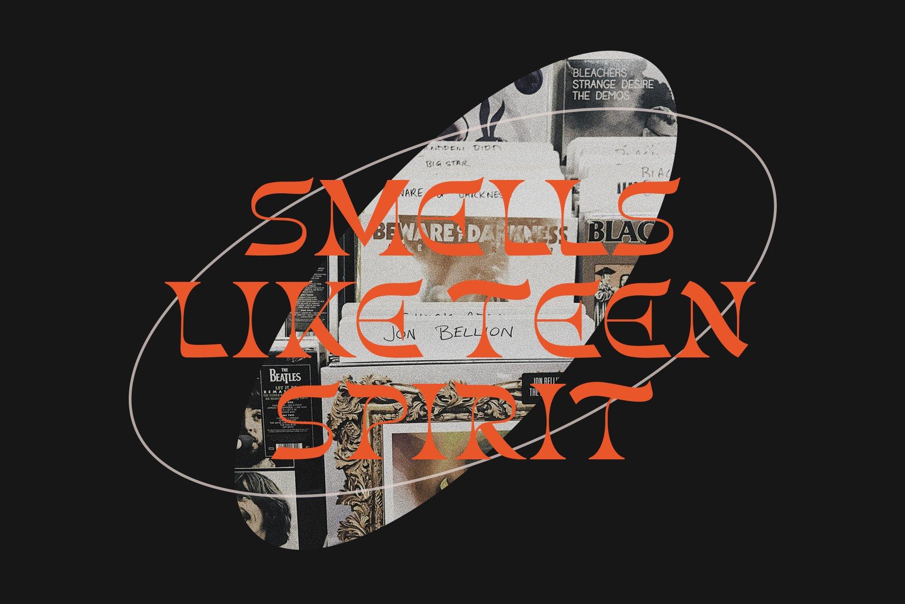 [单独购买] 潮流复古酸性艺术海报杂志Logo标题英文字体设计素材 Gunsan Font Duo插图8