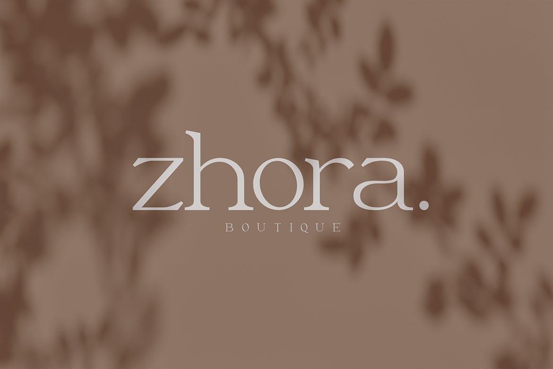 优雅轻奢现代时尚Logo杂志海报标题衬线英文字体素材 Moeda – Luxury Serif Font插图10