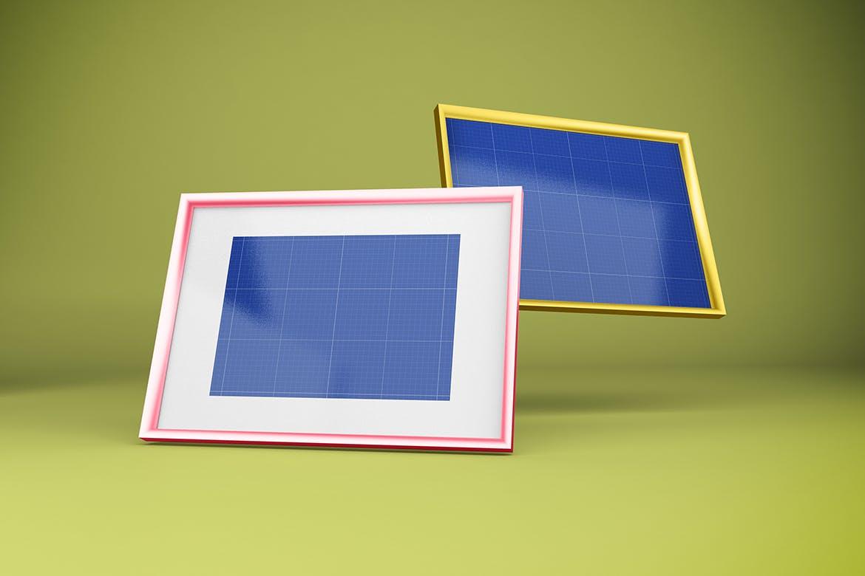 多角度艺术品相片展示相框样机模板 Frame Mockup插图11