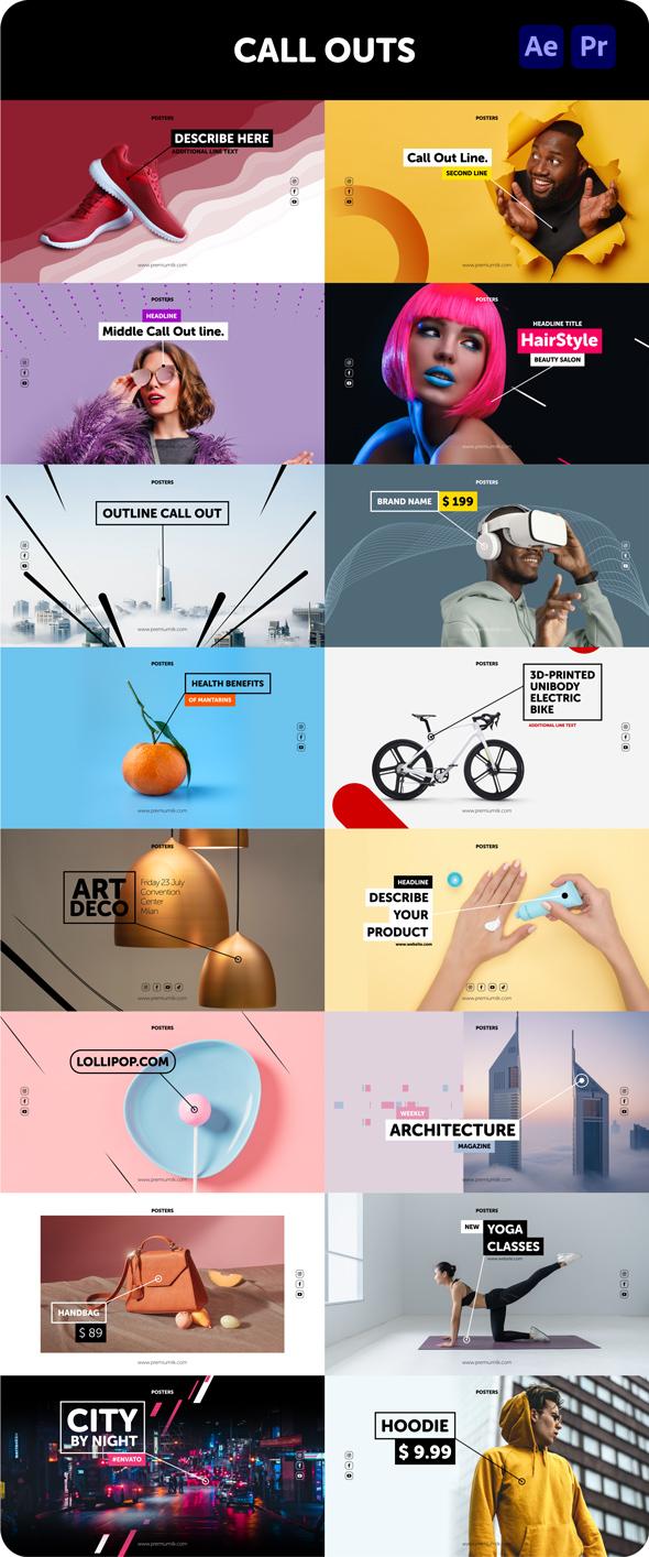 时尚潮流文字排版广告宣传海报包装动画预设AE+PR脚本素材 Videohive – Posters Pack V.7插图12