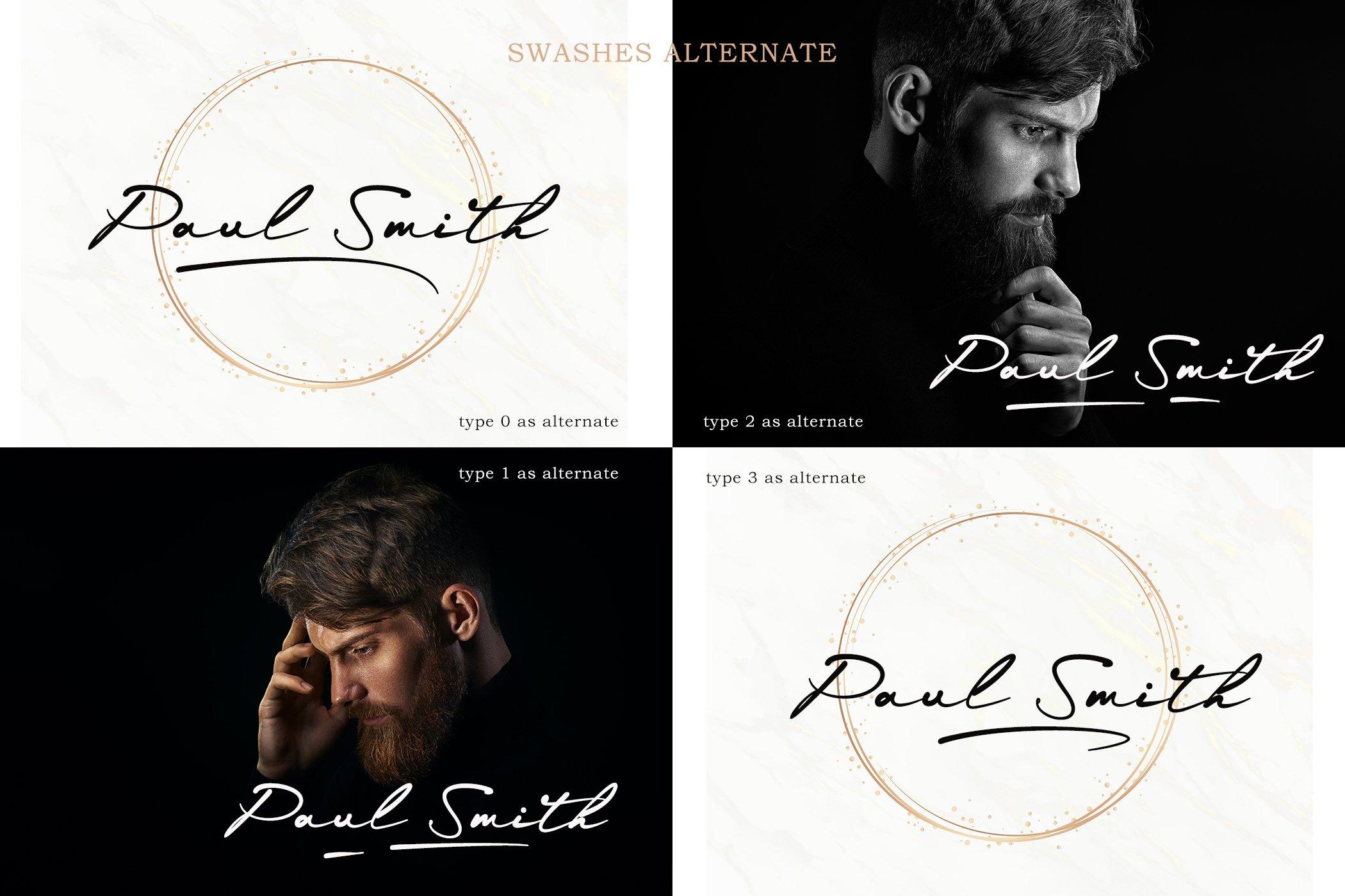 现代时尚品牌Logo标题设计手写英文字体素材 Grayphene Font插图11